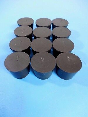 Solid Rubber Stoppers #6 Lot of 12