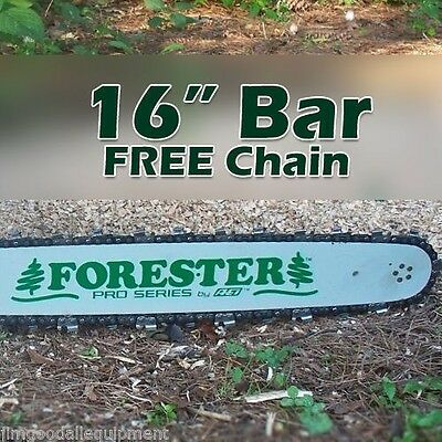 """16"""" Forester Bar W/Free Chain, Fits Stihl, 3/8"""" pitch, 050 gauge, 55 drive links"""