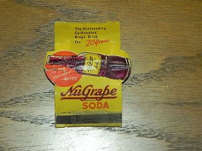 For the NuGrape collector who thinks he has everything – 'fold-out' Matchbook