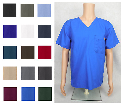 Carhartt Men's Scrub Top V-Neck Style 15108 **NEW** ~Free Shipping~*15 Colors*