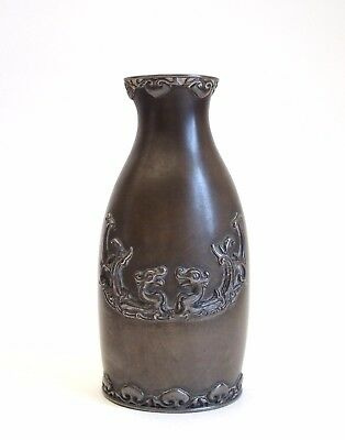 Fine antique 19th century Chinese bronze bottle