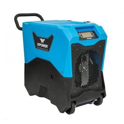 XPOWER XD-85LH Water Restoration Commercial LGR Dehumidifier w/ Handle & Wheels