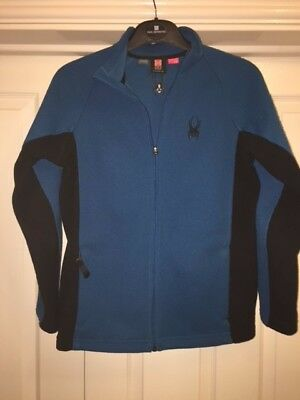 Spyder Core Sweater (ski clothing): good condition - blue with black trim
