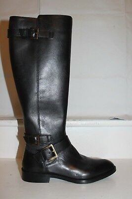 fdd118ed2 Sam Edelman MOORE Knee High Black Riding Boots Leather Buckles MSRP  250 NEW