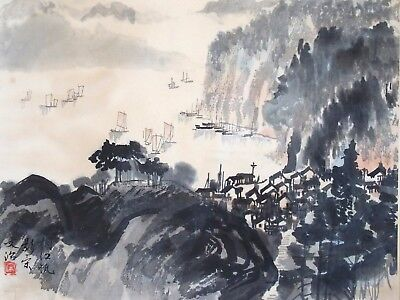 Fine 20th century Chinese scroll painting SUNG WEN CHIH 1919-1999 (Song Wenzhi)