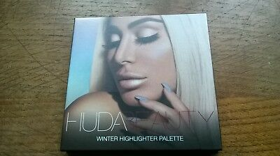 Huda Beauty Winter Highlighter Palette! Winter Solstice Edition! Unused In Box!