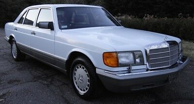 1987 Mercedes-Benz S-Class 420SEL 1987 Mercedes 420SEL White/Red 66K Original Miles One Owner No Reserve