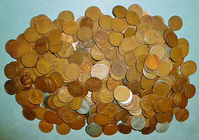 619 mixed Wheat Pennies - MUCH HIGHER PERCENTAGE OF TEENS AND TWENTIES