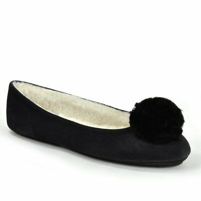 f26aa1177ea JACQUES LEVINE WOMEN S INDOOR HOUSE SLIPPERS BLACK GOLD SUEDE SIZE ...