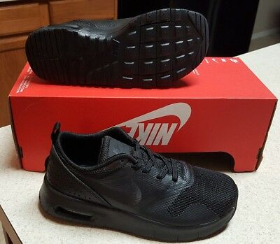 Youth NIKE AIR MAX TAVAS (PSE) RUNNING SHOES BLACK 844105-005 Kids Size 3Y