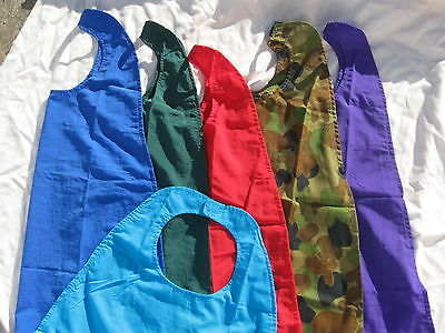 kids superhero capes,plain colours kids decorate themselves.2 sizes aussie made.