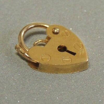 Solid 9K Heart Padlock Catch