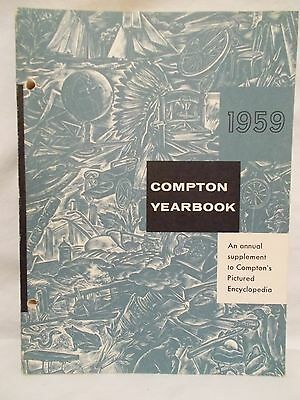 Vintage 1959 Compton Yearbook Picture Enclopedia *it Happened In 1958* Paperback