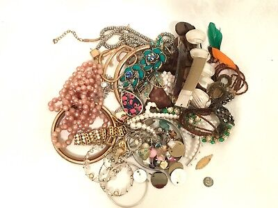 Small Lot Broken Or Junk Jewellery For Craft
