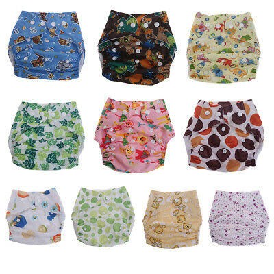 3-12kgs Reusable Baby  Cloth Diaper Cover Washable Waterproof Adjustable Diaper