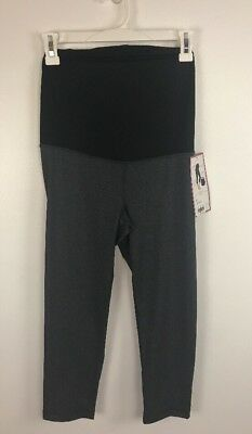 NWT Ingrid and Isabel Active Capri Pants with Crossover Panel Maternity Size XS