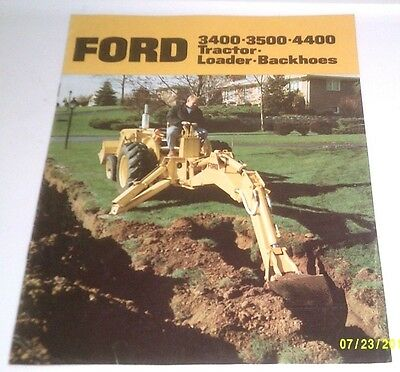 1970 Ford Tractor 3400 3500 4400 Backhoe Loader Brochure