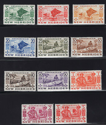 1953 New Hebrides. SC#66 SG#F81-F91. Mint, Lightly/Never Hinged, Very Fine.