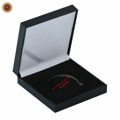 WR 45MM Coin Presentation Box Single Coin Holder Display Case Storage Box Gifts
