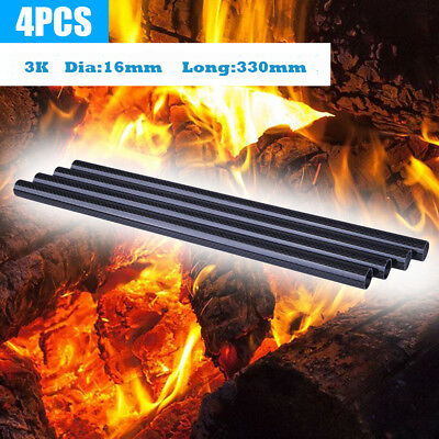 4Pcs 16mm ODx14mm ID x330mm 3K Roll Carbon Fiber Tube for Quadcopter Multicoptor
