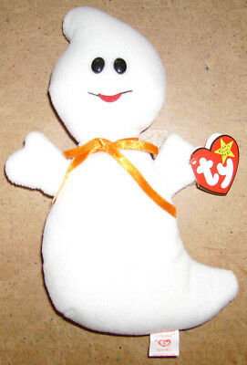 TY Spooky the Ghost Beanie Babies 1995 NMWMT style 4090 Halloween Free Postage