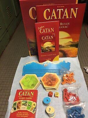 Settlers of Catan Board Game 5th Edition  TRADE BUILD SETTLE