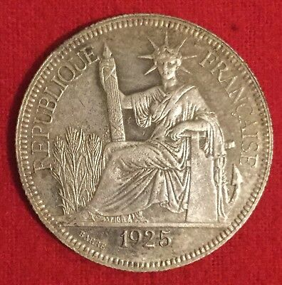 1925 French Indo-china Silver Piastre