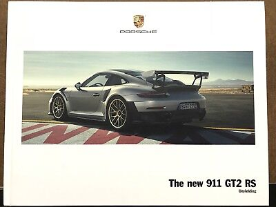 2018 Porsche 911 GT2 RS Unyielding Hardcover Brochure Ltd Edition Large Catalog