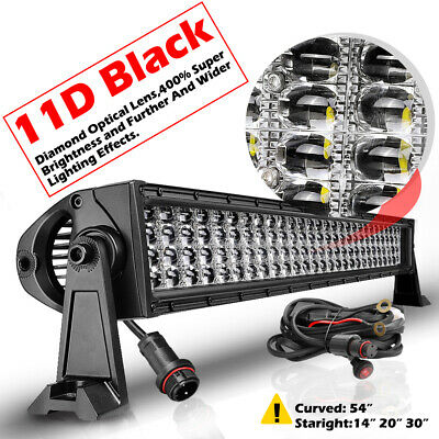 20INCH LED Light Bar Quad Row Spot Flood Combo Work Driving OffRoad Jeep SUV 4WD