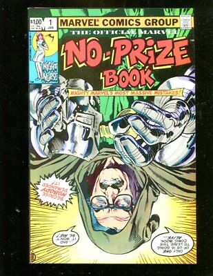 The Official Marvel No-Prize Book #1 Marvel Comics Near Mint  Xii