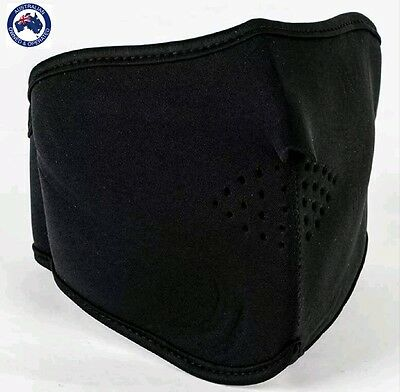 neoprene motorcycle face mask black half face