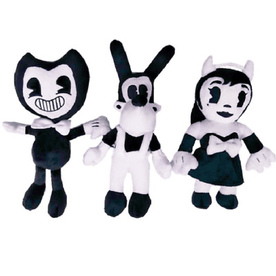 3PCS Bendy Alice Angel And Boris Plush Toys The Ink Machine Bendy Stuffed Doll
