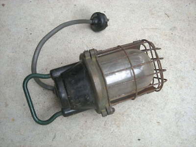 Vintage ROWCO 'Bunker' LIGHT, Australia - Industrial, Workshop, Heavy Duty....