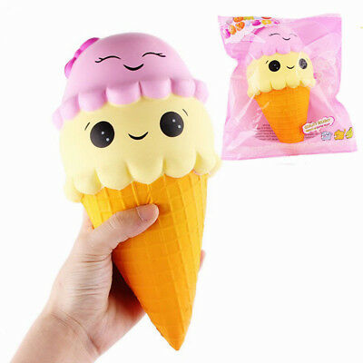 23cm Jumbo Super Soft Squishy Squeeze Ice Cream Slow Rising Kids Toys Gifts Lot