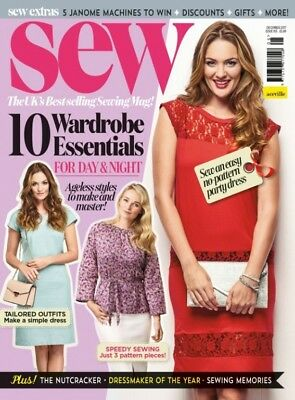 Sew magazine issue 105 December 2017 WITH PATTERN