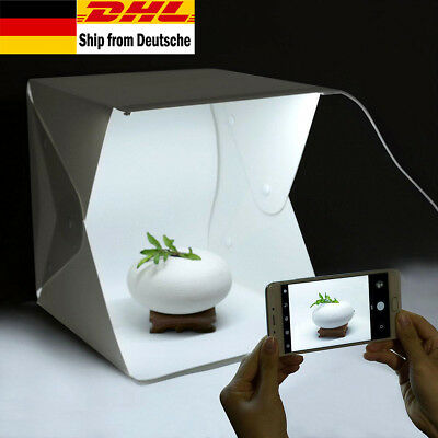 Mini Folding Photo Studio Kit Portable Fotografie Home Studio Box mit LED-Licht