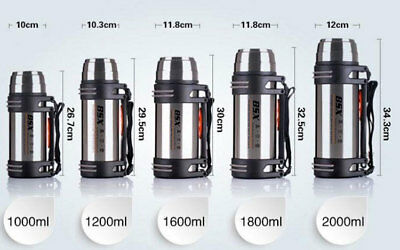Stainless Steel Outdoor Thermos Travel Insulated Mug Potable Vacuum Cup