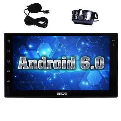 Camera+7'' Touchscreen Car Radio Stereo GPS Android 6.0 SWC WIFI no-dvd Player