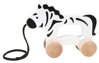 New Hape Push and Pull Zebra Childrens Toy