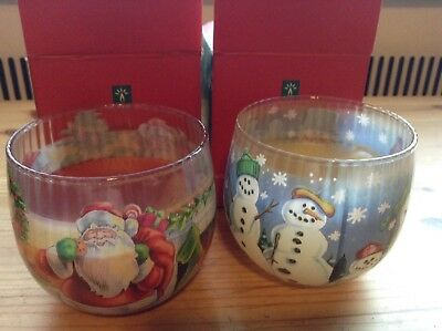 Two Avon Candles- Christmas Votives 2000 Unused in Box