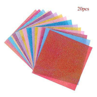 20pcs Glitter Paper Sparkling Shiny Lucky Bird Boat Animal Star Colorful Origami