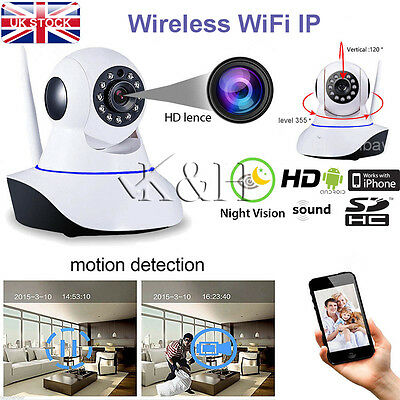 HD 720P Wireless Pan Tilt WiFi IP Camera Home Shop Security CCTV IR Night Vision