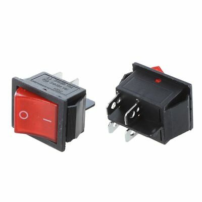 2 Pcs KCD4 DPST ON-OFF 4 Pin Rocker Boat Switch 15A/20A AC 250V/125V F7N2
