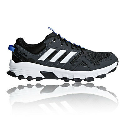 adidas Mens Rockadia Trail Shoes Black Sports Running Breathable Lightweight