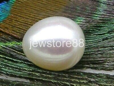 Top AAA+++ 10-11mm drop loose white south sea round half drilled single pearl