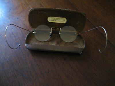 VICTORIAN RIMLESS SPECTACLES - GOLD & TORTOISESHELL FITTINGS and original case