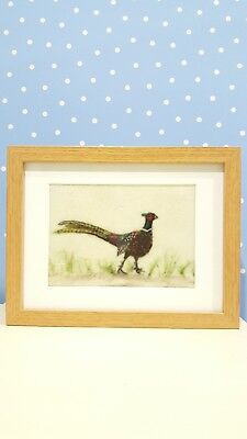 Needle felted picture ''Pheasant'