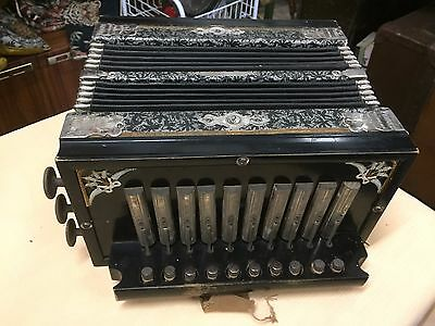 Antique Princess Accordeon Accordion Melodeon Made in Germany