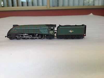 DAPOL N GAUGE Steam Locomotive ND128C A4 # 60021 'Wild Swan' BR Lined Green.