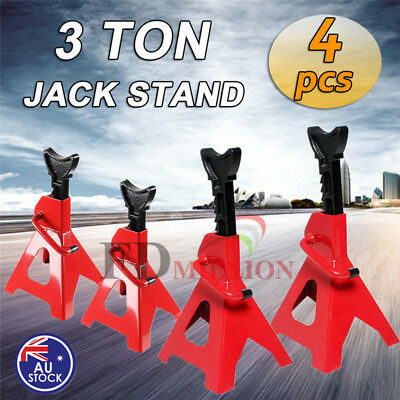 4Pcs 3 TON 3000KG Jack Stand Adjustable Height Lift Auto Car Heavy Duty Steel AU